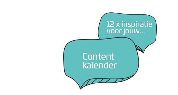 12 x inspiratie voor jouw Content Kalender